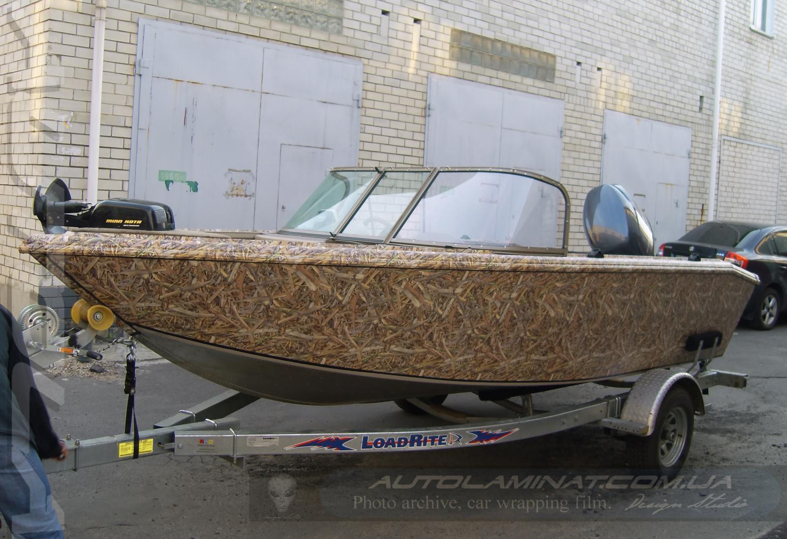 камуфляж на лодку пвх своими руками